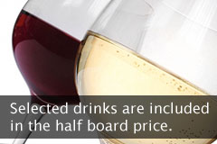 Drink is included in the half board price
